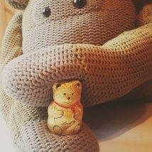 Monkey has a new chocolatey friend.
