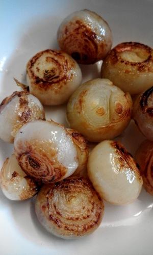 browned shallots
